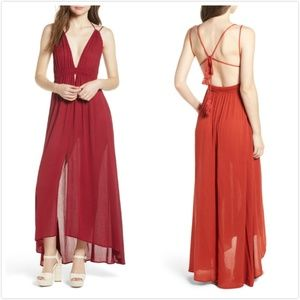 NWT ASTR the Label Gauze Crinkle Maxi Dress